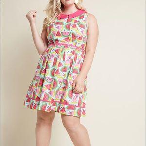 ModCloth midi Watermelon Dress